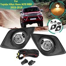 Toyota Hilux Fog Light Switch For Toyota Hilux Revo M70 M80 2015 2016 2017 2018 Fog Light Lamp With Bulb Harness Switch Chrome Trim Front Bumper Work Light