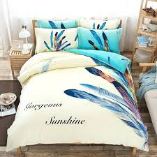 whole feather patterns cotton bedding set queen bed duvet cover sheet pillow case linen covers for cotton duvet covers