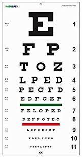 Eye Vision Chart Numbers Kashsurg Snellens Distance Vision Eye Chart 20 Feet Amazon