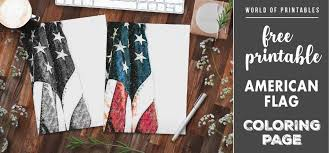 Color scheme was created by colorswall. Free Printable Coloring Page American Flag World Of Printables