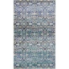 lexington teal 3 ft x 5 ft area rug