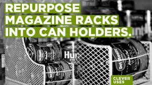 Magazine Holder Uses Repurpose a Magazine Rack into a Canned Food Holder 26