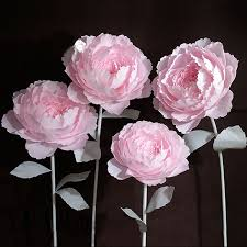 Peony Paper Flower 2019 Artificial Large Peony Paper Flowers Head Diy Home Decor Wedding Background Wall Party Photography Stage Decoration Fashion Crafts From