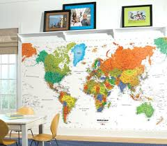 world map wall decal kids kids world map wall decal large colorful wall murals map of