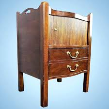 henredon side table mahogany commode side table nightstand cabinet chest of drawers vintage henredon side table