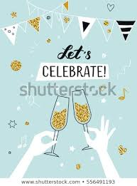 Party Invitation Background Image Party Invitation Background Raised Hands Holding Stock Vector