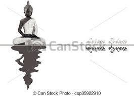 瞑想する 仏 銀 姿勢