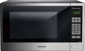panasonic 1 3 cu ft mid size microwave stainless steel black silver nn su686s best
