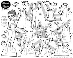 Small Picture Warm in Winter African American Paper Doll Coloring Page Paper