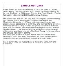 Obituary Template Death Notice Examples Newspaper Templates For