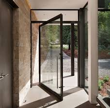 steel pivot door