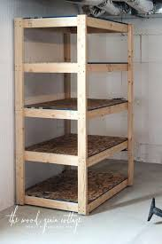 basement shelving the wood grain cottage easy shelves build homemade storage basement storage shelves plans