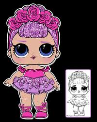 Lol Doll Coloring Pages Sugar Queen Coloringpagekidsinfo