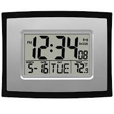 black rectangular digital wall clock