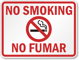 No Smoking Signage Bilingual No Smoking Signs English Spanish