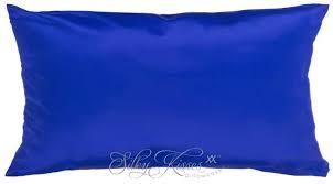 blue pillow case. royal blue mulberry silk pillow case n