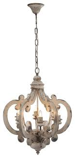 lynn wooden chandelier antique