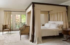 elegant bed frames. Fine Bed Elegant Bedroom Furniture Queen Canopy Bed Frame Dark Wood Beige  Curtains Sofa Armchair Throughout Elegant Bed Frames