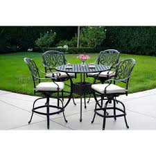 5 piece pub table set espresso bar garden oasis harrison