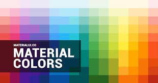 Material Design Colors Material Colors Color Palette