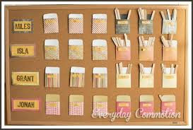 Cork Board Chore Chart Responsibility Chore Chart For Kids Children Morning Library