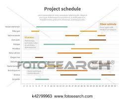 Project Plan Schedule Chart With Timeline Gantt Progress