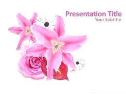 Spring Flower Template Flowers Powerpoint Template Free Spring Flower Templates