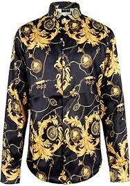 PIZOFF <b>Mens</b> Long Sleeve Luxury Design Print <b>Dress Shirt</b> at ...