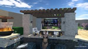 pool designs with bar. Contemporary Bar Pool Design W Swimup Bar Ramada Fire Wokpots And Landscape  YouTube To Designs With Bar