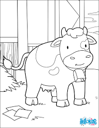 Cow at the barn coloring pages - Hellokids.com