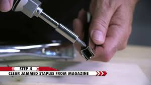 how to clear a jam from arrow s t50 staple gun arrow fastener