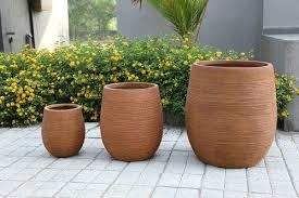 architectural planter pots garden