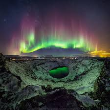Northern Lights How Are They Created This Photographer Shot Northern Lights Reflected In A