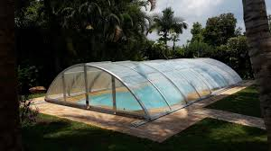 swimming pool enclosure with low cost
