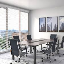 office window blinds. Silver Office Venetian Blinds In Meeting Room Window