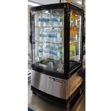 berg 4 sided 2 door pass through countertop refrigerator merchandiser 17 w