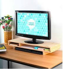 Computer Monitor Display Stands Inspiration Adjustable Gemini Monitor Stand File Cabinet Wooded Office Desk