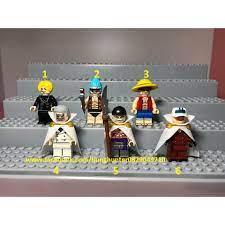 Lego Koruit Minifigures One Piece nhân vật đảo hải tặc Râu trắng Luffy