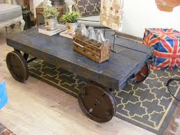 Industrial Factory Cart Coffee Table Vintage Cart Coffee Table Custom Designs Vintage Cotton Bale