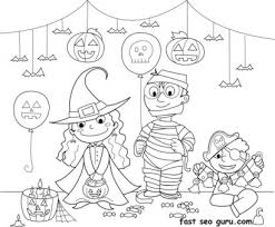 halloween costumes coloring pages kids halloween costume party ideas coloring page printable