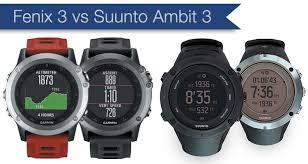 Garmin Fenix 3 Vs Suunto Ambit3 Peak Best Multi Sport Watches