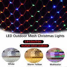 Đèn Lưới Ngoài Trời 1.5*1.5M 3*2M Dây Đèn Led Lưới Vườn Thần Tiên Đèn Vòng  Hoa Rèm Cửa Sổ Với 8 Chế Độ Chiếu Sáng Để Trang Trí Tiệc Sinh Nhật Giáng