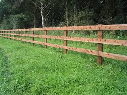 fence. Post And Rail Paddock Fencing Fence :