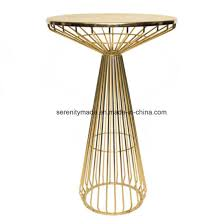modern wire cocktail round high bar table for outdoor event