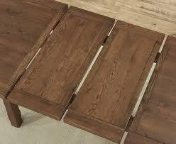 mark harris cheyenne solid dark oak dining table oval extending
