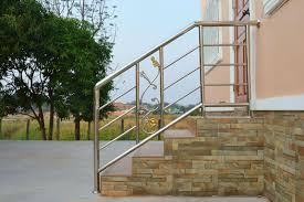 simple steel stairway rail