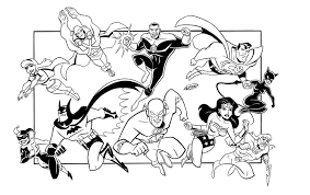 Justice League Coloring Pages Getcoloringpagescom