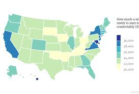 Maine Payroll Calculator This Map Shows The Living Wage For A Single Person Across