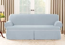 sure fit cotton canvas one piece sofa