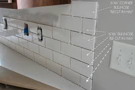 bathroom tile backsplash. Kitchen Chronicles: A DIY Subway Tile Backsplash, Part 1 | Jenna Sue Design Blog Bathroom Backsplash